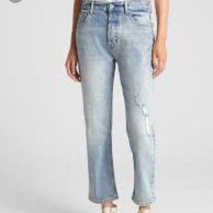 Gap high rise straight crop jeans